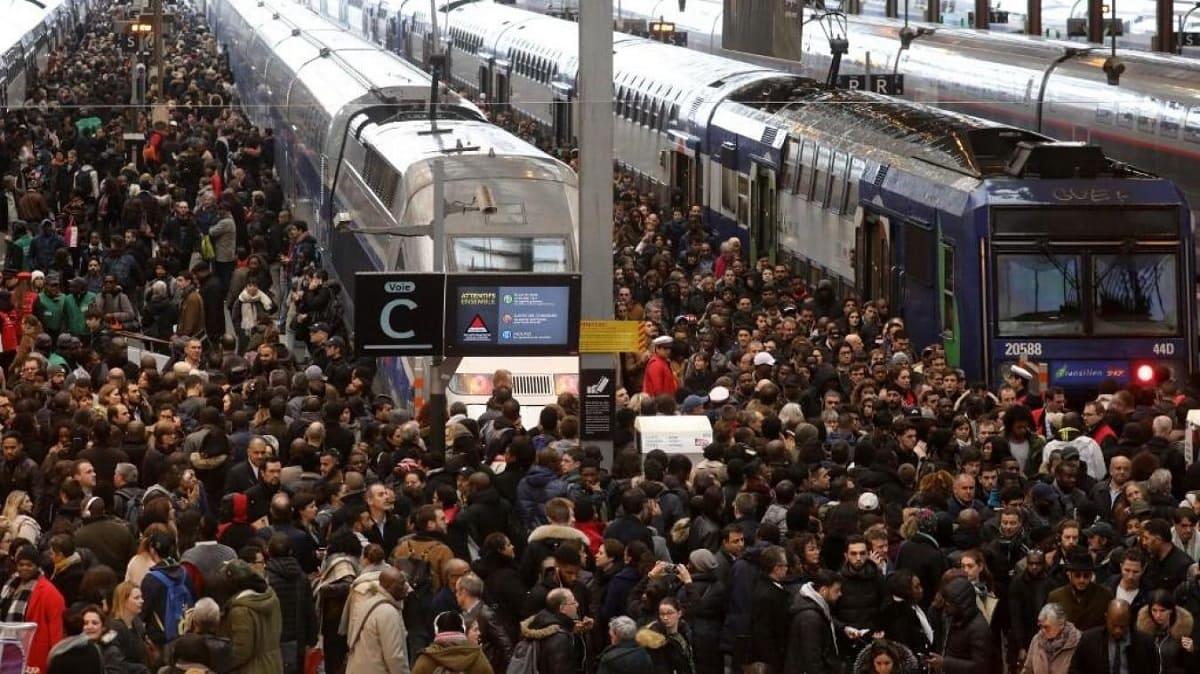 Забастовки железнодорожников во Франции