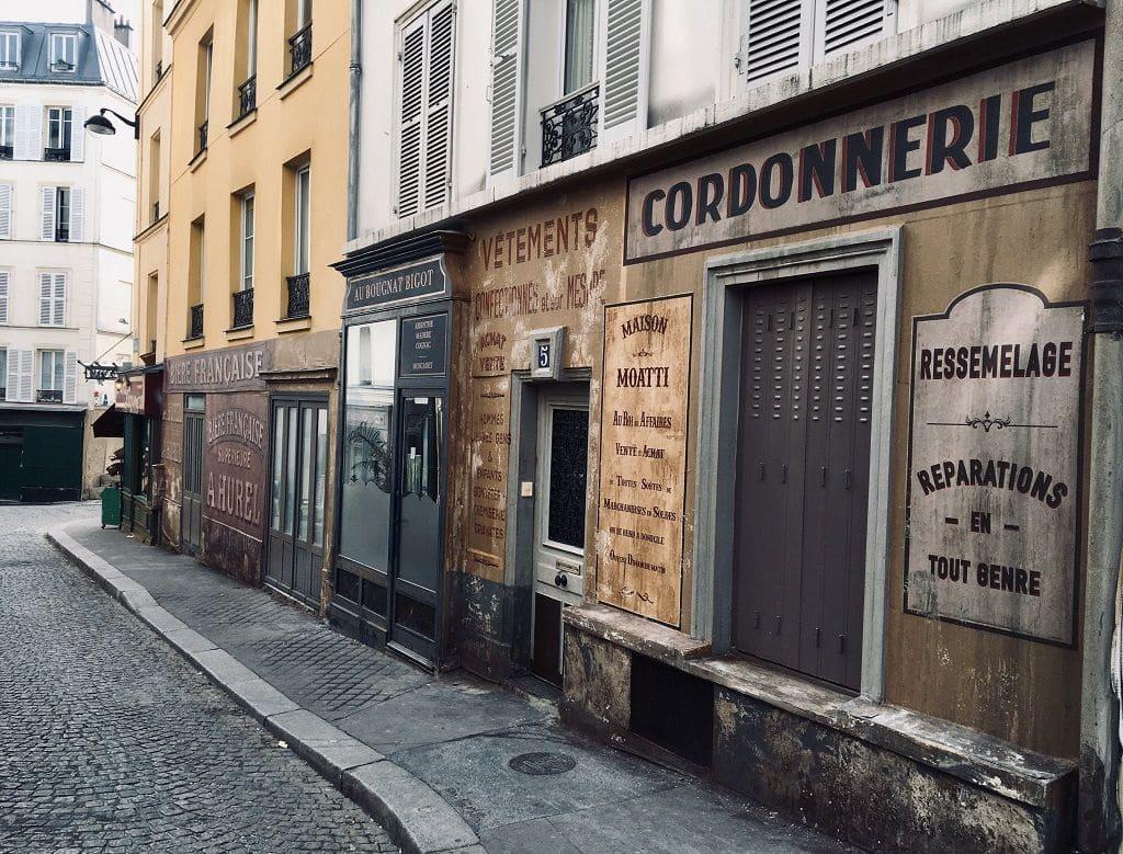 Съемки фильма на Монмартре